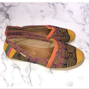 Anthropologie KAANAS | Canvas Colorful Flats 37 7